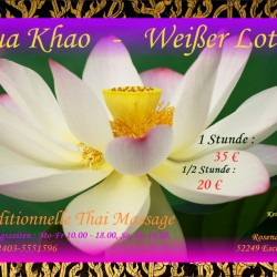 Bua Khao Thai Massage Eschweiler - Flyer