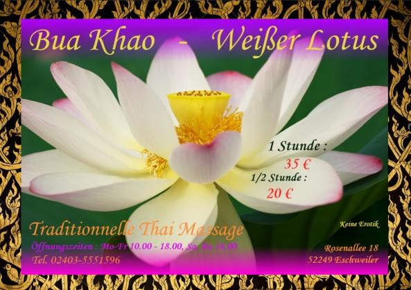 Bua Khao Thai Massage Eschweiler - Flyer